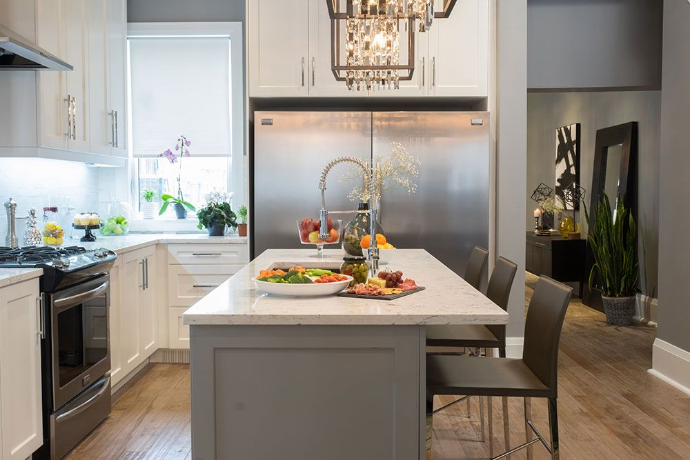 Don T Forget The Statement Lighting Small Kitchen Design