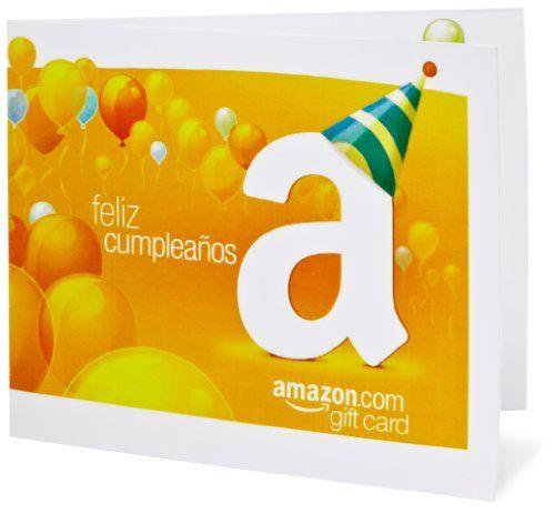Amazon Gift Card - Print - Happy Birthday Espanol $5000 Birthday - fresh adams gift certificate template word