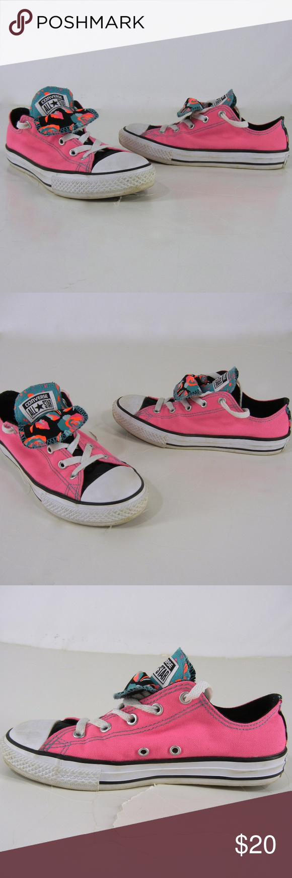 b9d23361aea4 CONVERSE All Star CTAS Double Tongue Shoes Youth 3 CONVERSE junior size low  top sneakers.
