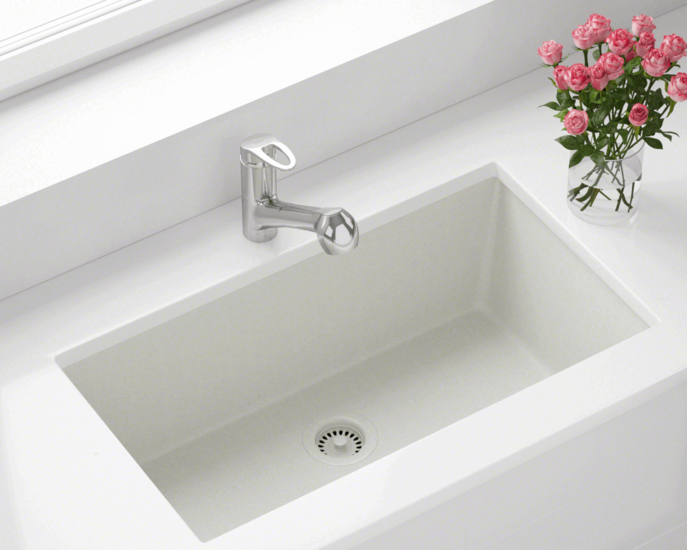 848 White Single Bowl Undermount Trugranite Sink With Images