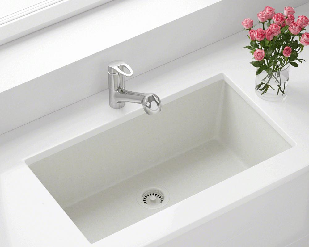 848 White Single Bowl Undermount Trugranite Sink Double Bowl Kitchen Sink Undermount Kitchen Sinks Single Bowl Kitchen Sink
