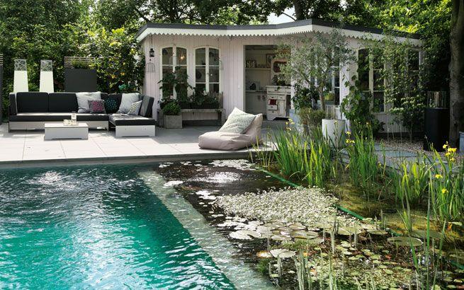 schwimmteich anlegen im garten berlauf biopool wassergarten pinterest schwimmteich. Black Bedroom Furniture Sets. Home Design Ideas