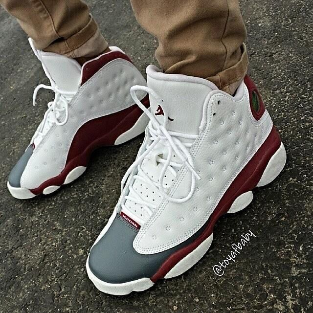 new product d5416 e6696 ... shoes. Jordan 13s, white, gray and maroon... Js are so hard to find,  but these are exclusive.. Thanks Jordan Release dates for the post!