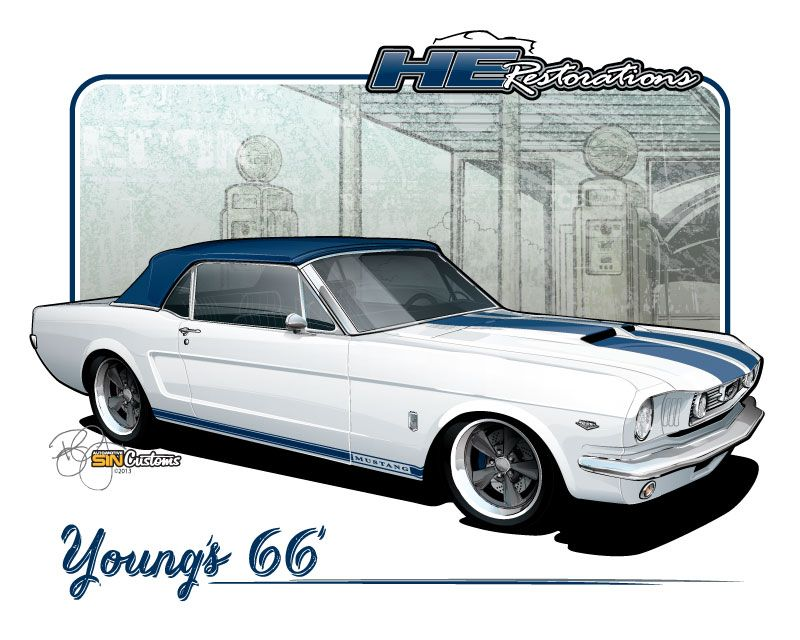 1966 Mustang Convertible - Vehicle Illustration by SIN Customs ...