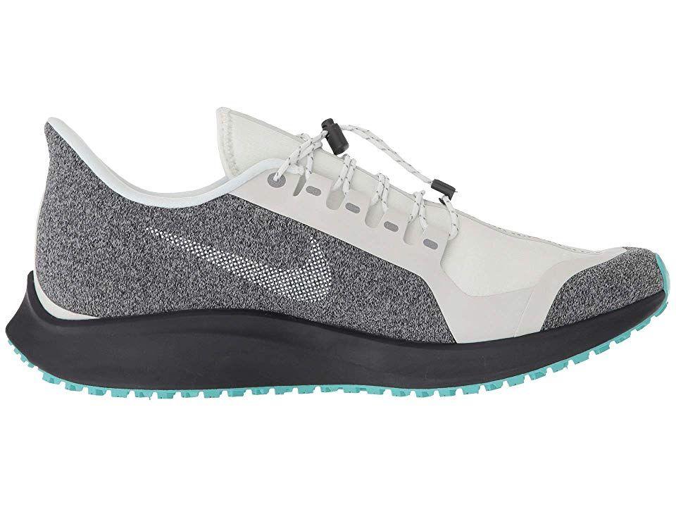 76216fecdf204 Nike Air Zoom Pegasus 35 Shield Women s Running Shoes Summit White Metallic  Silver Oil Grey