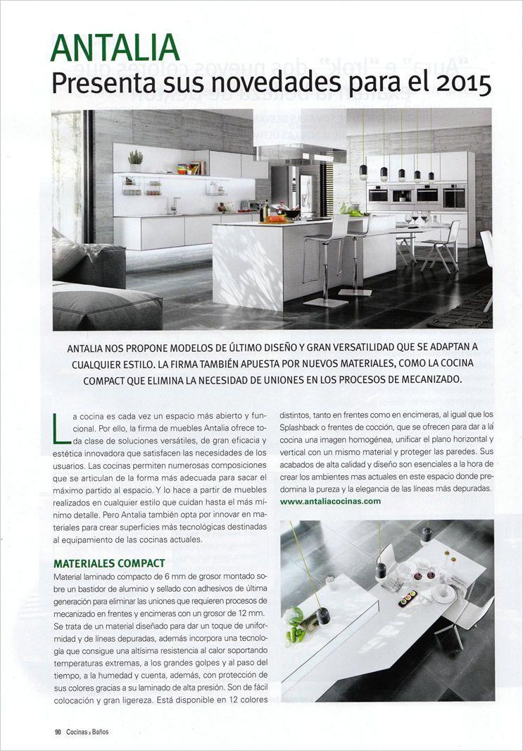 las novedades de antalia en la revista cocinas y baos modelos de cocina de