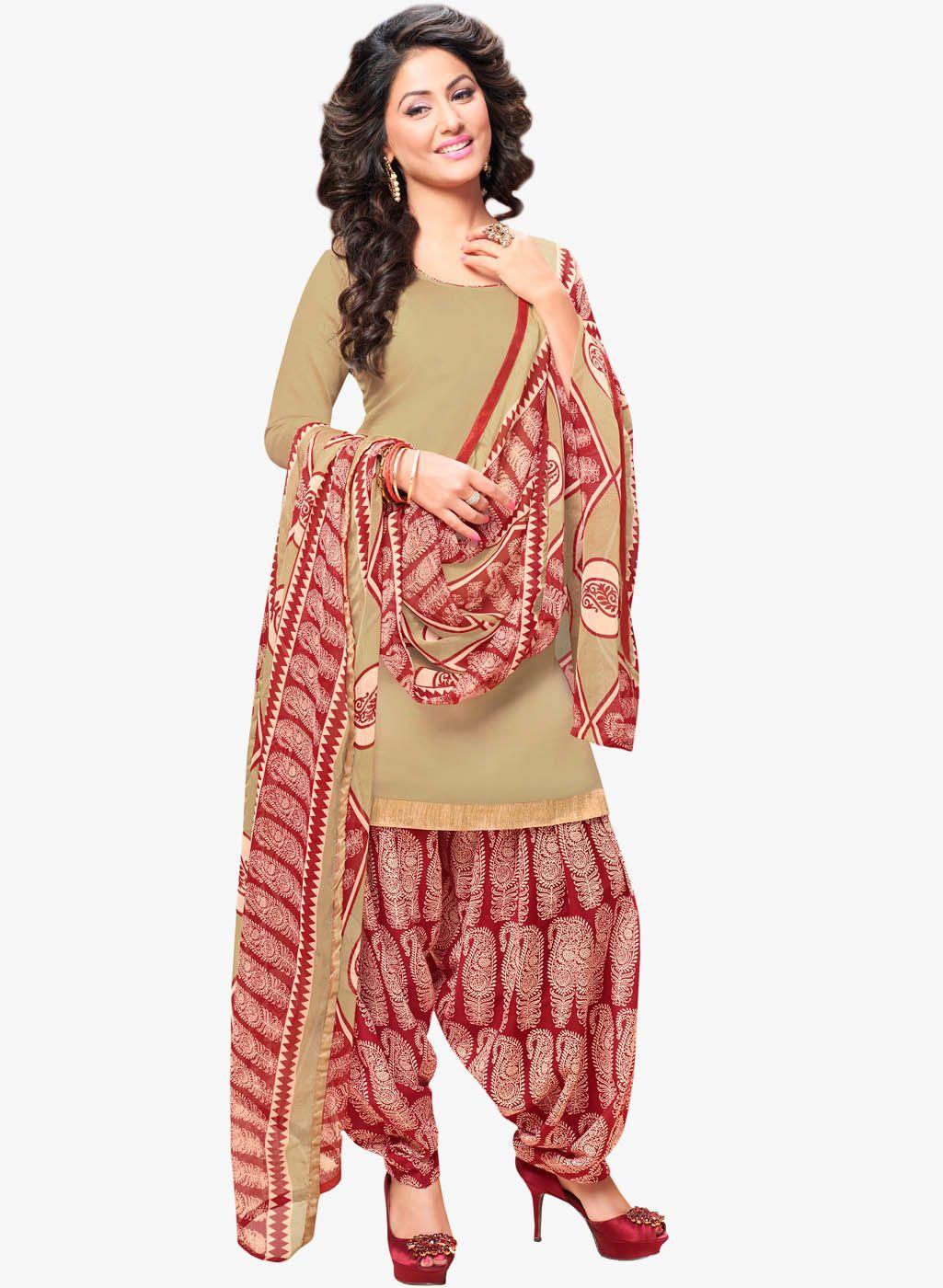 Desi Look Beige Embellished Dress Patiyala Dress Dress