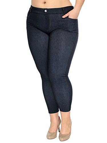 8123df24f09 Simplicity® High Quality Queen Size Jeggings W  Front Pockets