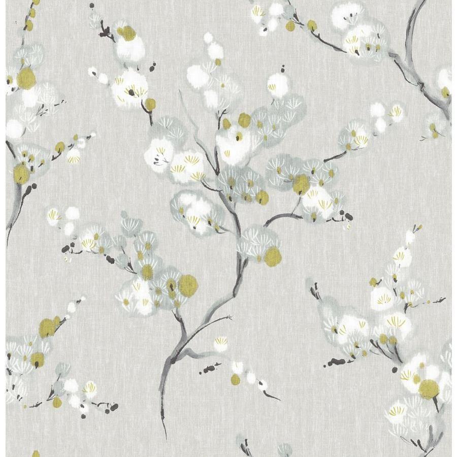 Nuwallpaper Mirei Peel And Stick Wallpaper Lowes Com In 2020 Blue Floral Wallpaper Floral Wallpaper Botanical Wallpaper