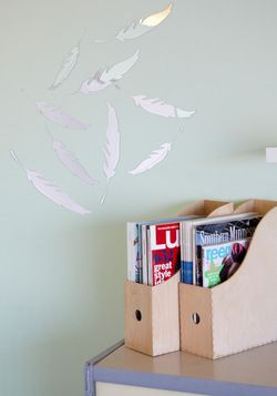 Plume and Board Mirrored Wall Decor, #ModCloth