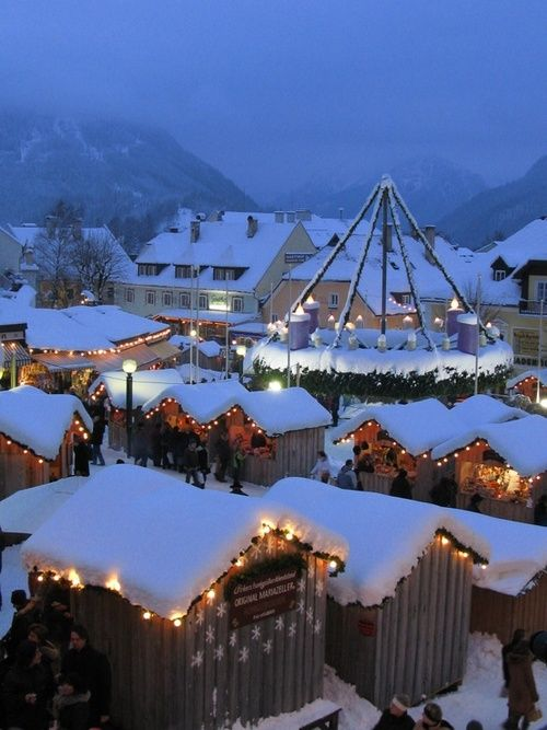 A Snow White Christmas.Christmas Market In Germany A Must For A Snow White