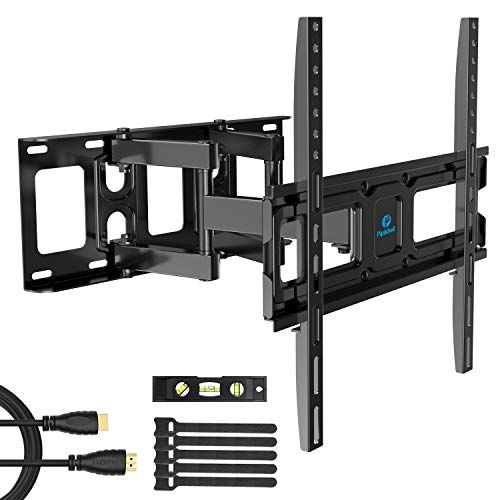 TV Wall Mount Bracket Full Motion Dual Swivel Articulating Arms Extension Tilt Rotation F
