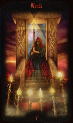 Legacy of the Divine Tarot / Gateway to the Divine Tarot by Ciro Marchetti - 7 of Wands
