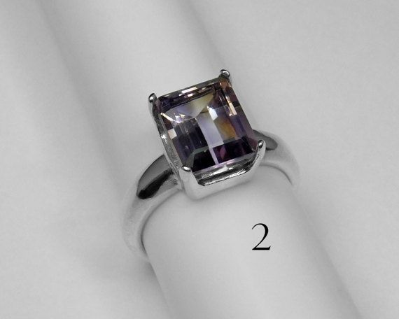 Ametrine Ring Choice in Silver 10 x 8 mm