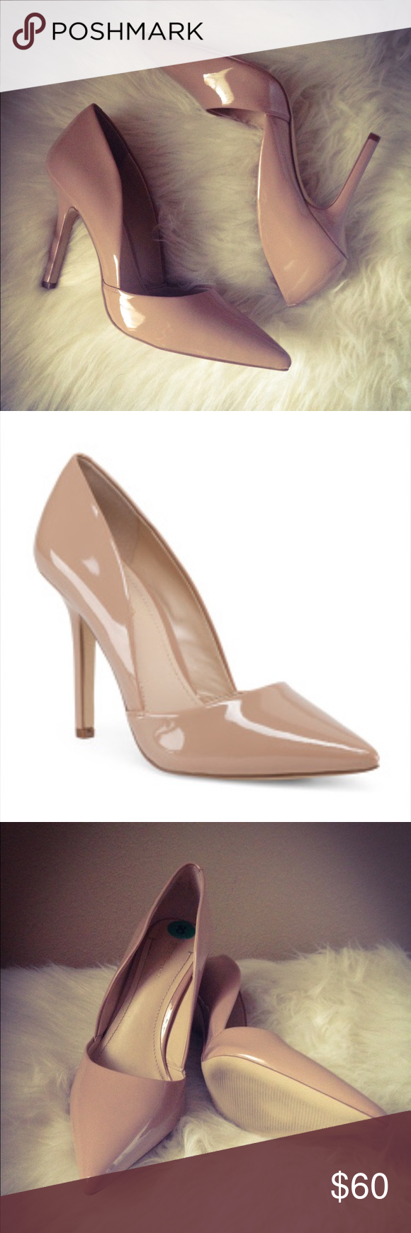 93be318e7eb •BCBG Damia Patent Heels• Beautiful Nude Patent Pumps by BCBGeneration!  Cushioned insole 4.25