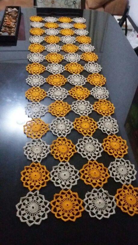 Camino de mesa crochet crochet pinterest caminos de for Camino de mesa elegante en crochet
