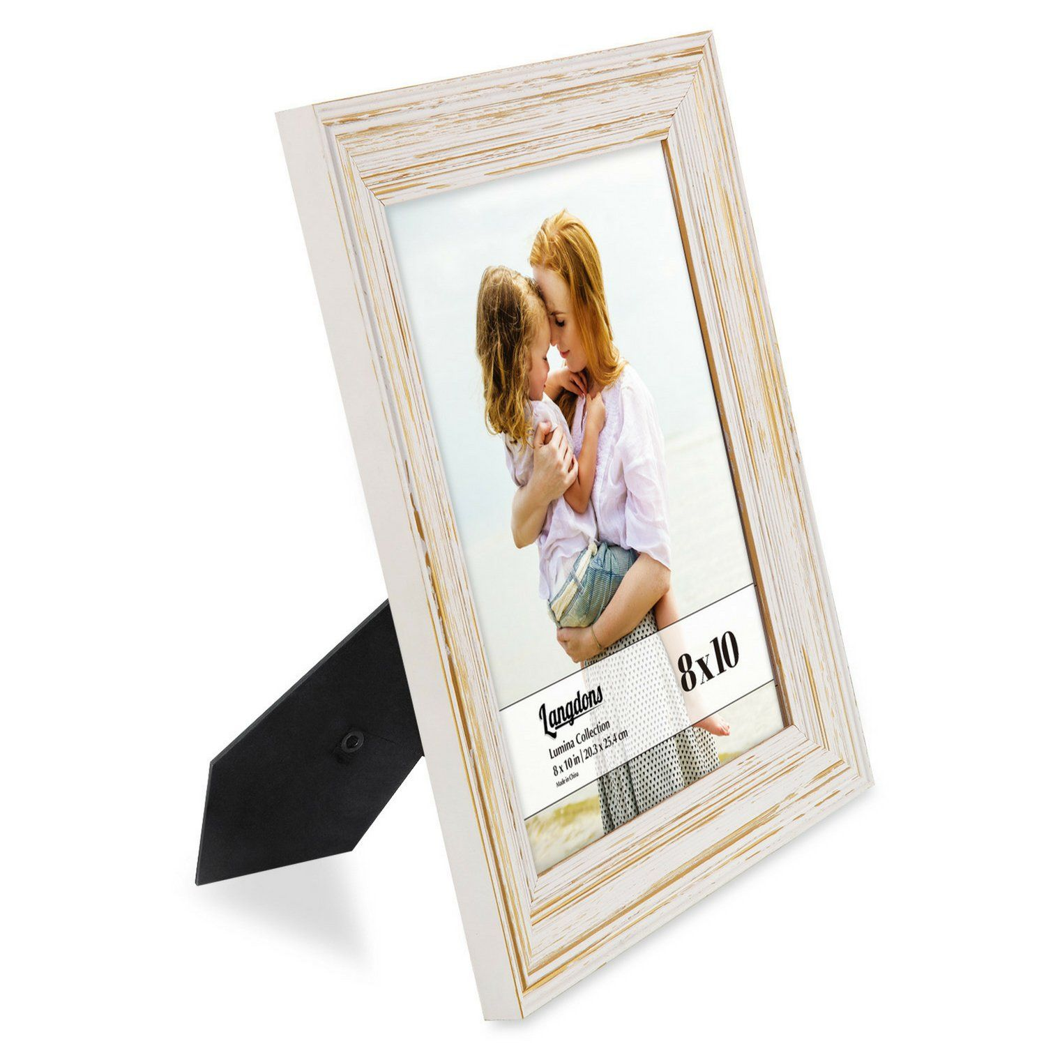 Langdons 8x10 Picture Frame Set 6pack Weathered White Solid Wood Photo Frames 8x10 Wall Hanging Or Tab Wooden Photo Frames Wood Picture Frames Wood Photo Frame