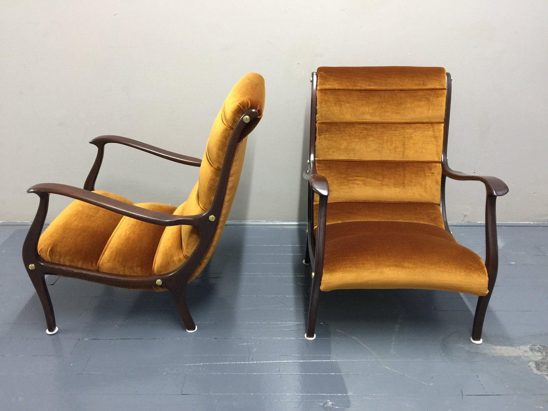 Ezio Longhi Italian 20th Century Lounge Chairs Italian Furniture