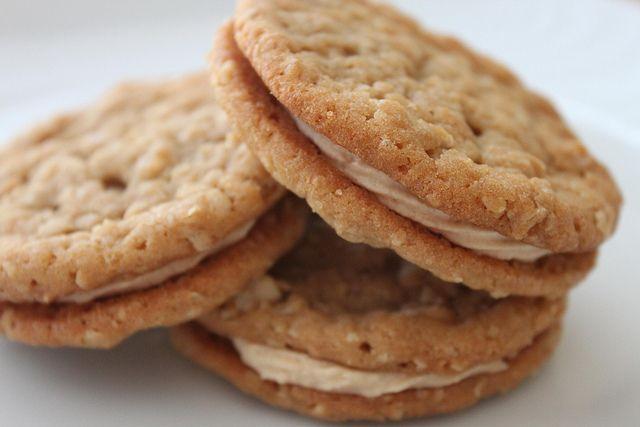 Oatmeal Cream Pies | Recipe | Peanut butter sandwich ...