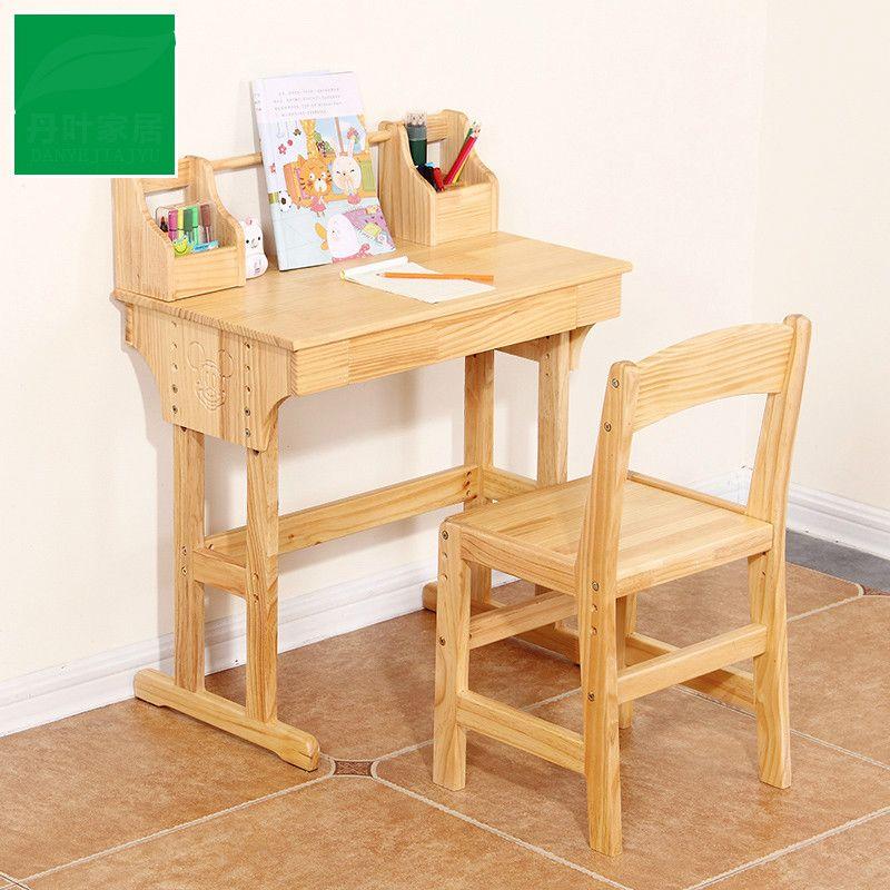 High Quality Wood Desk For Children Children Desk Lifting Student Desk  Chair And Desk Set