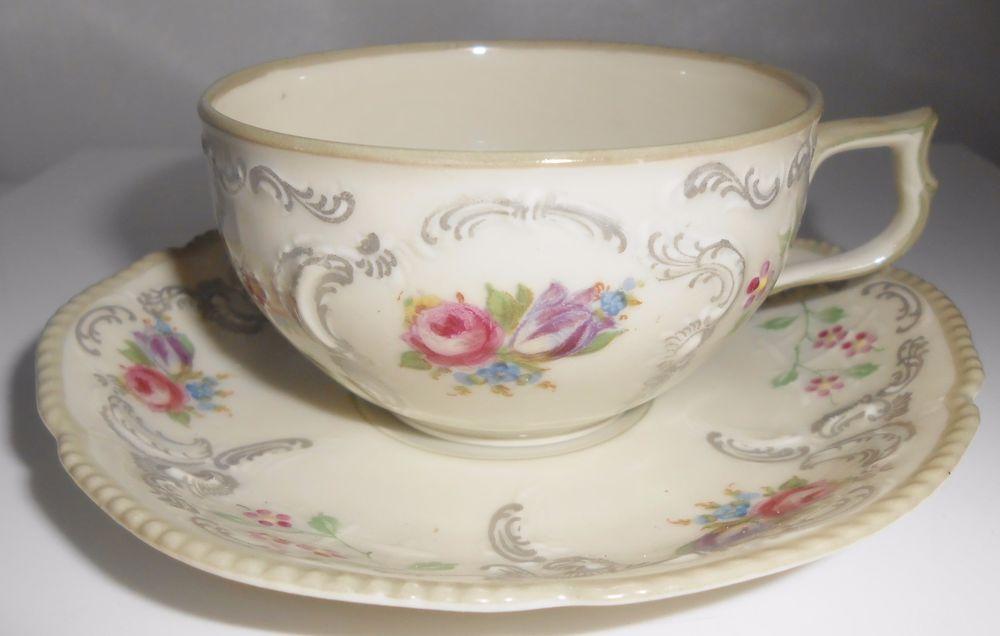 Rosenthal Sanssouci Selb Germany Demitasse Cup & Saucer Floral Flowers #Rosenthal