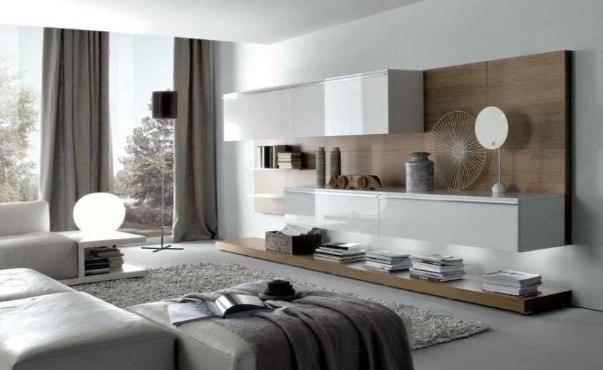 Come arredare il soggiorno in stile moderno - Parete attrezzata ...