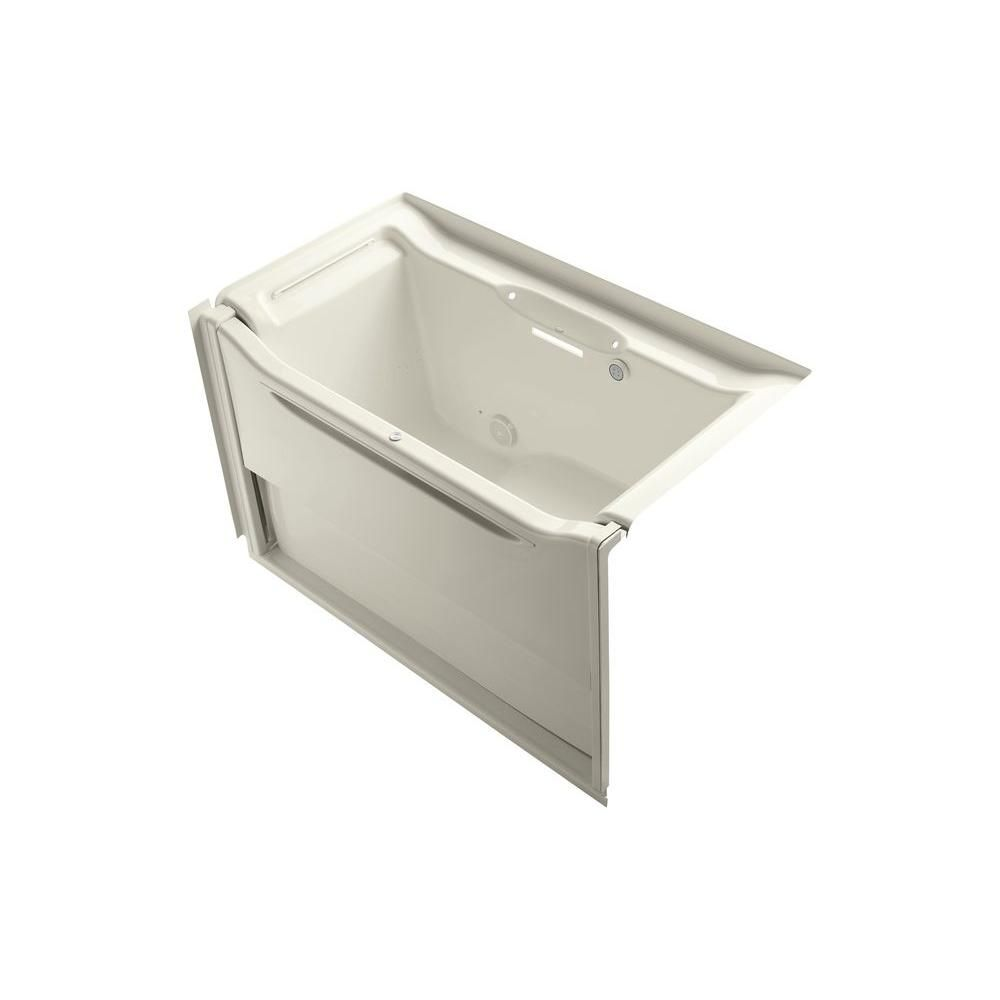 KOHLER Elevance 5 ft. Air Bath Tub in Biscuit