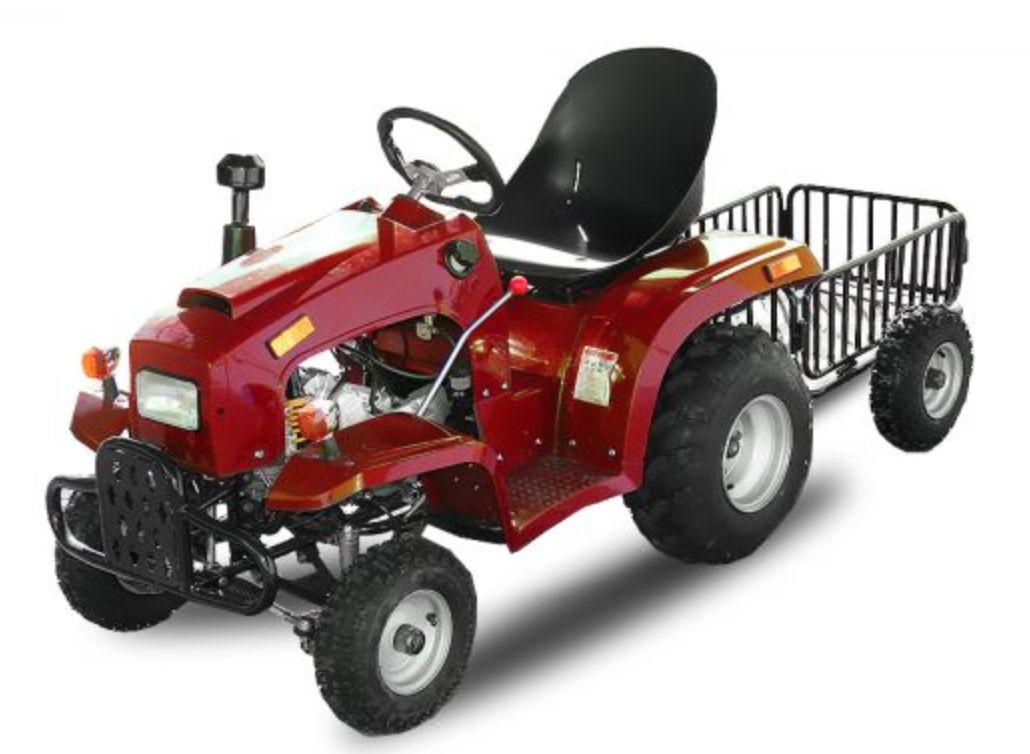 Tracteur Enfant 110cc Rouge Avec Remorque Lestendances Fr Tracteur Remorque Moteur 4 Temps