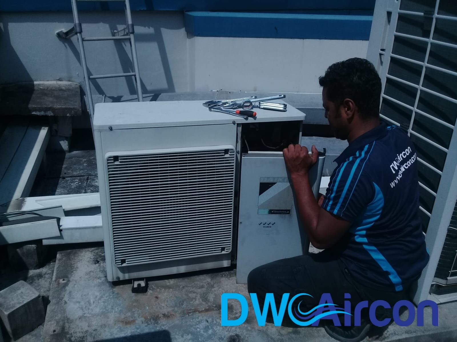 DW Aircon provided an Aircon Condenser, Fan Motor, & Fan