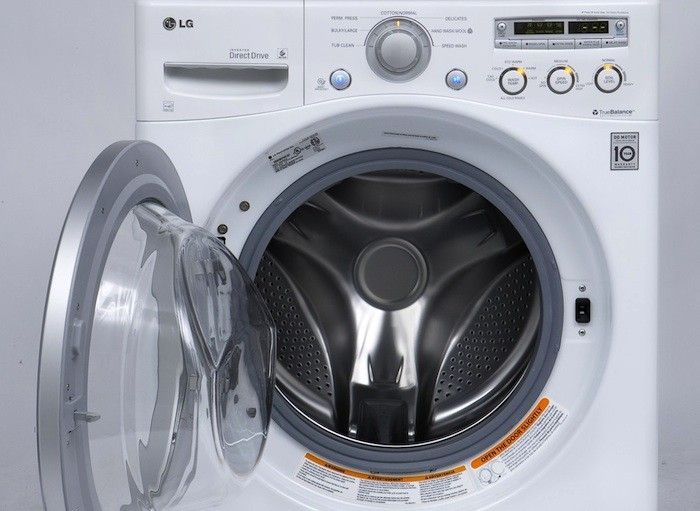 The entrylevel LG Front Load Washer WM2250CW has nearly all the