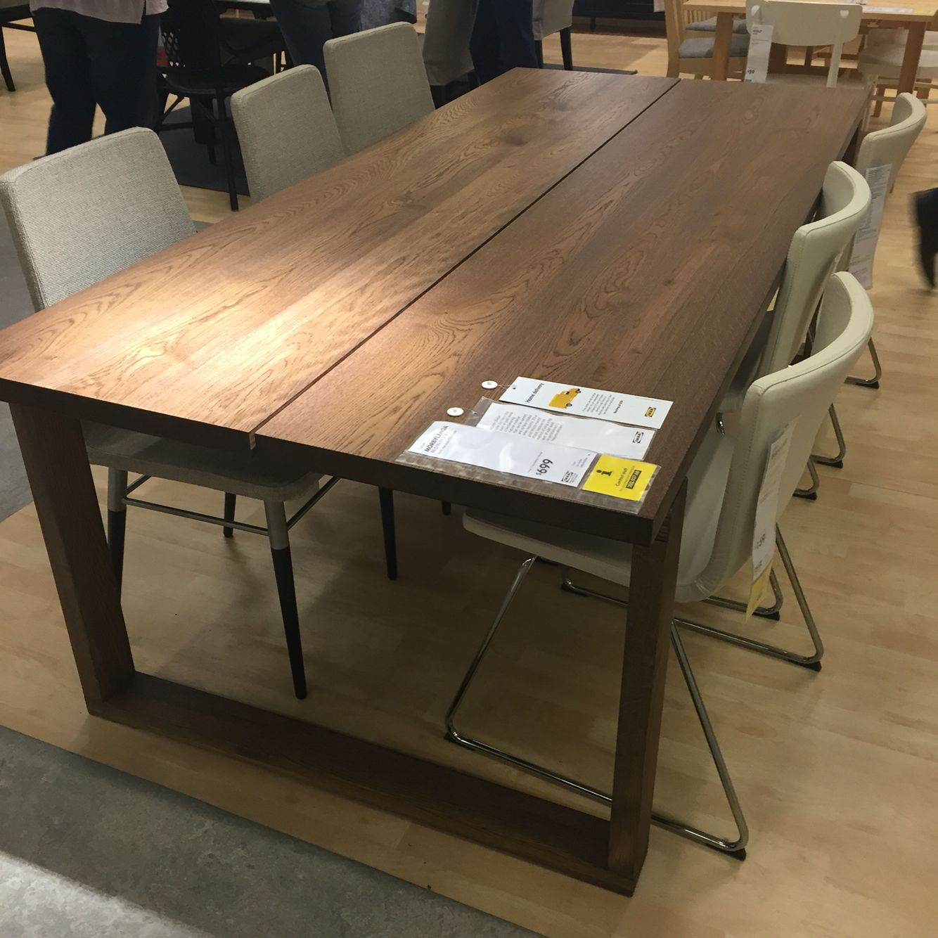 Ikea Esstisch Norden 220 Morbylanga Dining Table Veneer Oak 700 Ikea In 2019