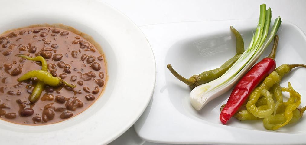 """""""Caparrones de Anguiano"""" (Cocido de legumbre). Restaurante Enascuas de Logroño (La Rioja)"""