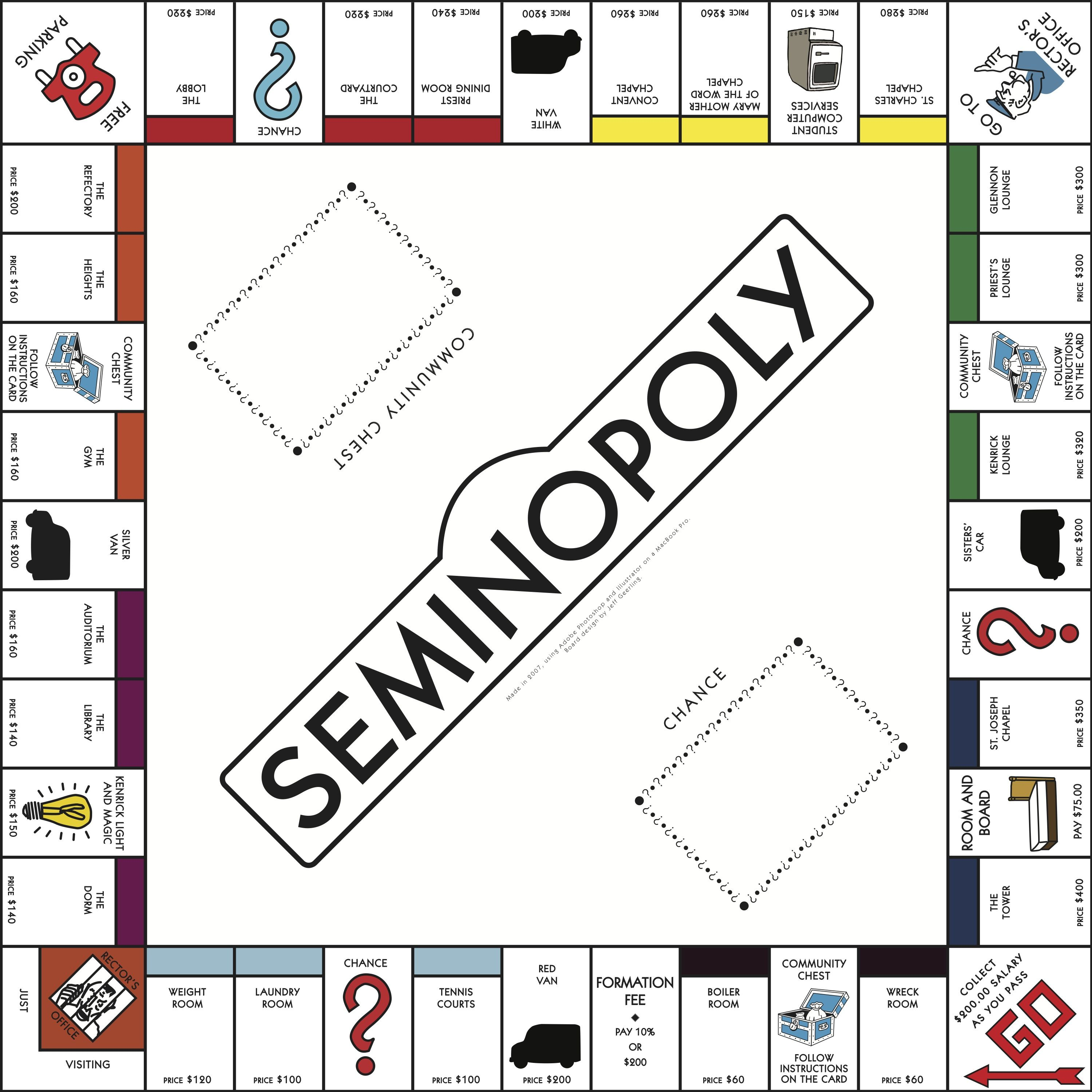 how do you make a monopoly board seminopoly