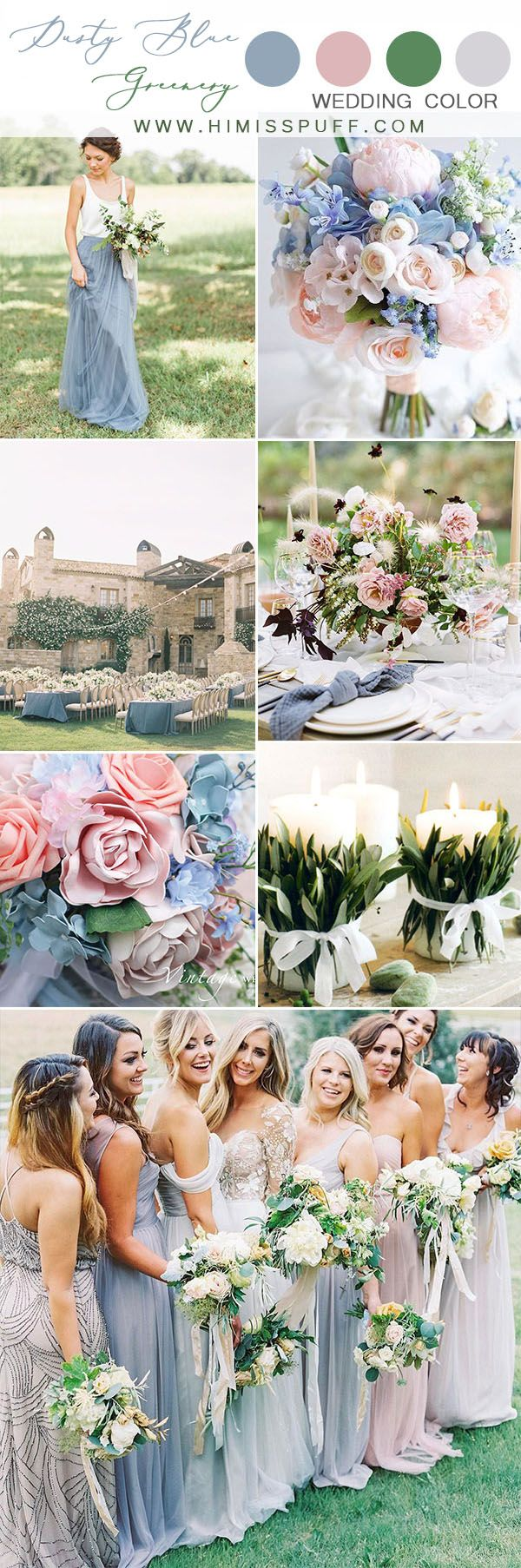Top 10 Wedding Color Scheme Ideas For 2021 Green Wedding Colors Blue Themed Wedding Wedding Cake Dusty Blue
