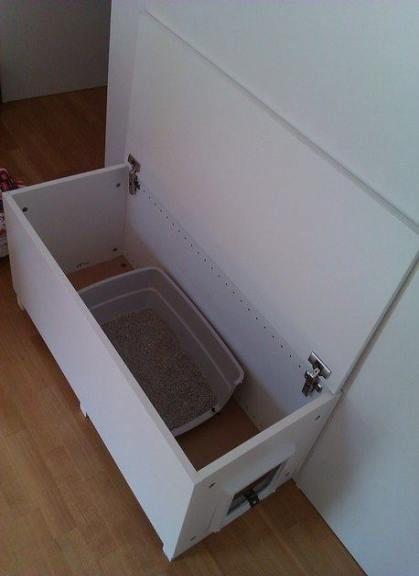 New cats stuff litter box ikea hacks 44 Ideas #cats   Diy ...