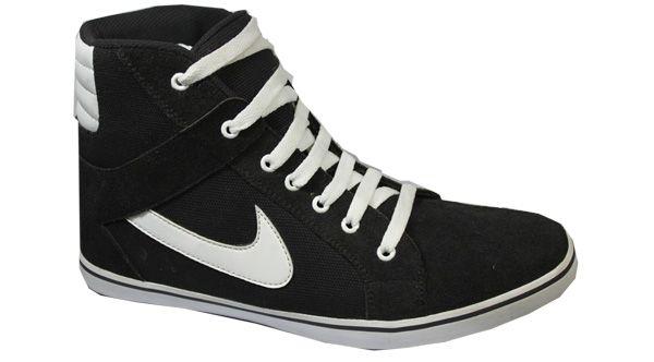 Jual Sepatu Sneakers Tinggi Warna Hitam Putih Online Sepatu