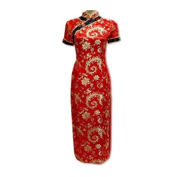 Royal Chinese Dress For Chinese Queen ❤ liked on Polyvore featuring dresses and red dress