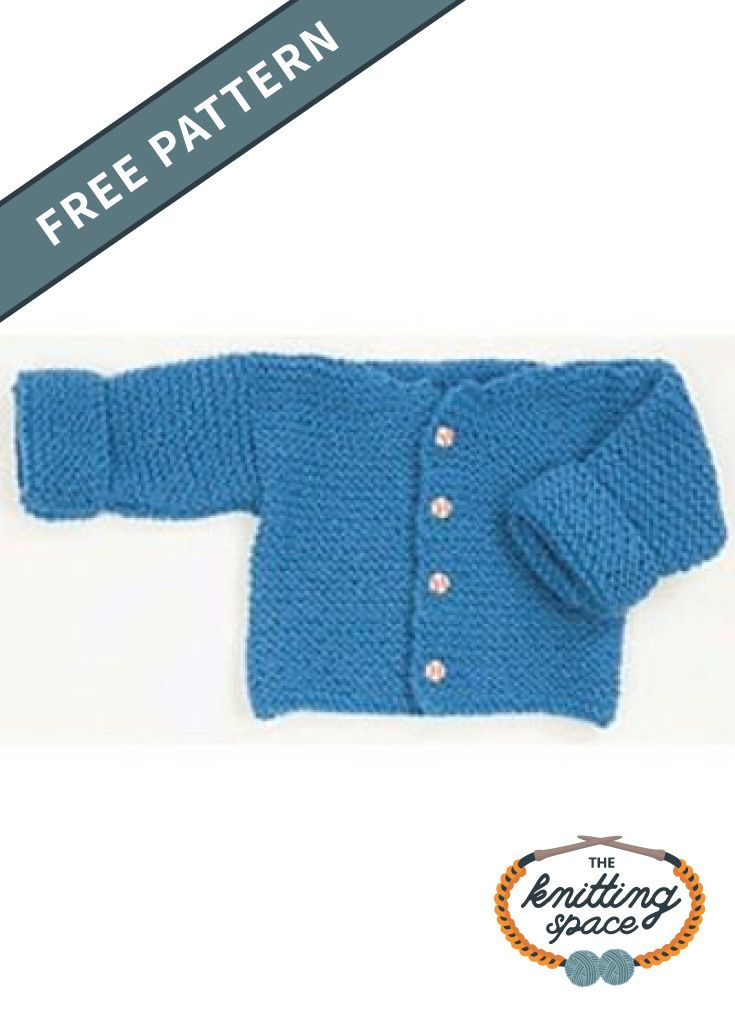 Easy Knitted Garter Stitch Baby Sweater [FREE Pattern ...