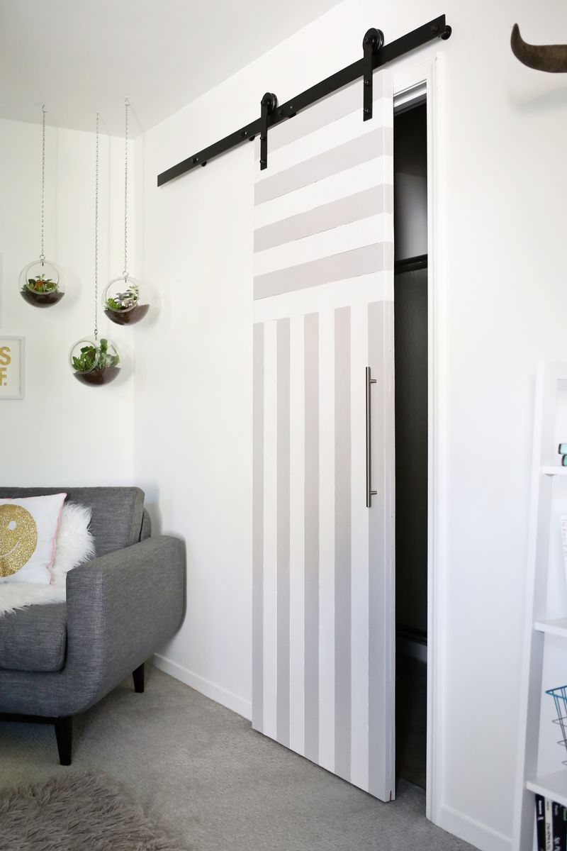 Sliding Door Solution For Small Spaces A Beautiful Mess Diy Sliding Door Home Small Spaces