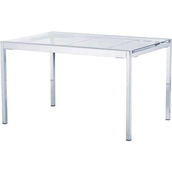 Ikea Glivarp Extendable Table Clear Chrome Plated Found On