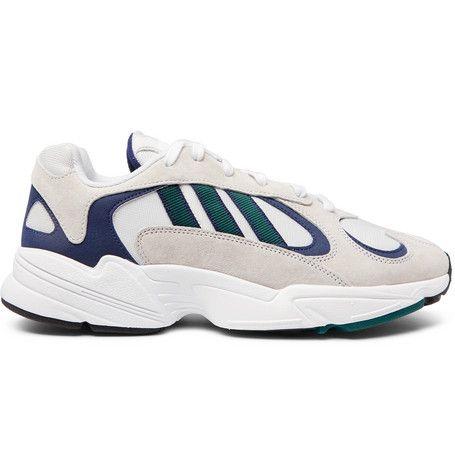 check out 92163 c9f77 ADIDAS ORIGINALS Yung 1 Nubuck and Mesh Sneakers. adidasoriginals shoes