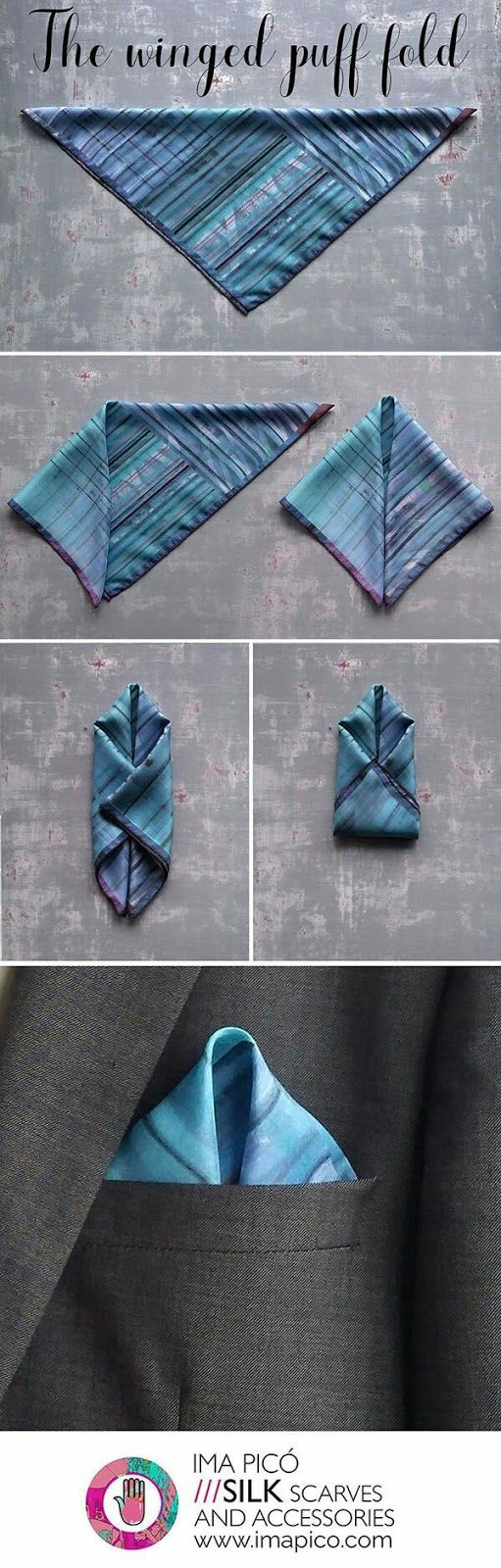 BlackDot: Men's Fashion: How to Fold a Pocket Square