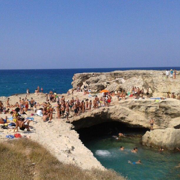 Puglia, Salento. Grotta dei poeti