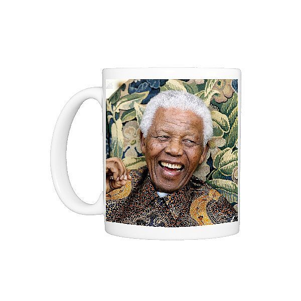 Polyester coated dishwasher safe ceramic mug. Former South African President Nelson Mandela during his meeting with Conservative Party leader David Cameron at The Dorchester in central London. national, close up, close, african, politician, gesturing, smiles, closeup, congress, fpafpa, fpa08dy, gkdecade2000large, gestures, brochure09, review2008, showreelpbf10, portfolioedit2, portfolioedit3, obits2013, dbest08service, 2008newsreview, mandela, decade2008, brochure09edit, showreelpbf10news, nelso