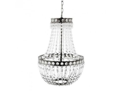 chandelier plata y cristal hubsch interior