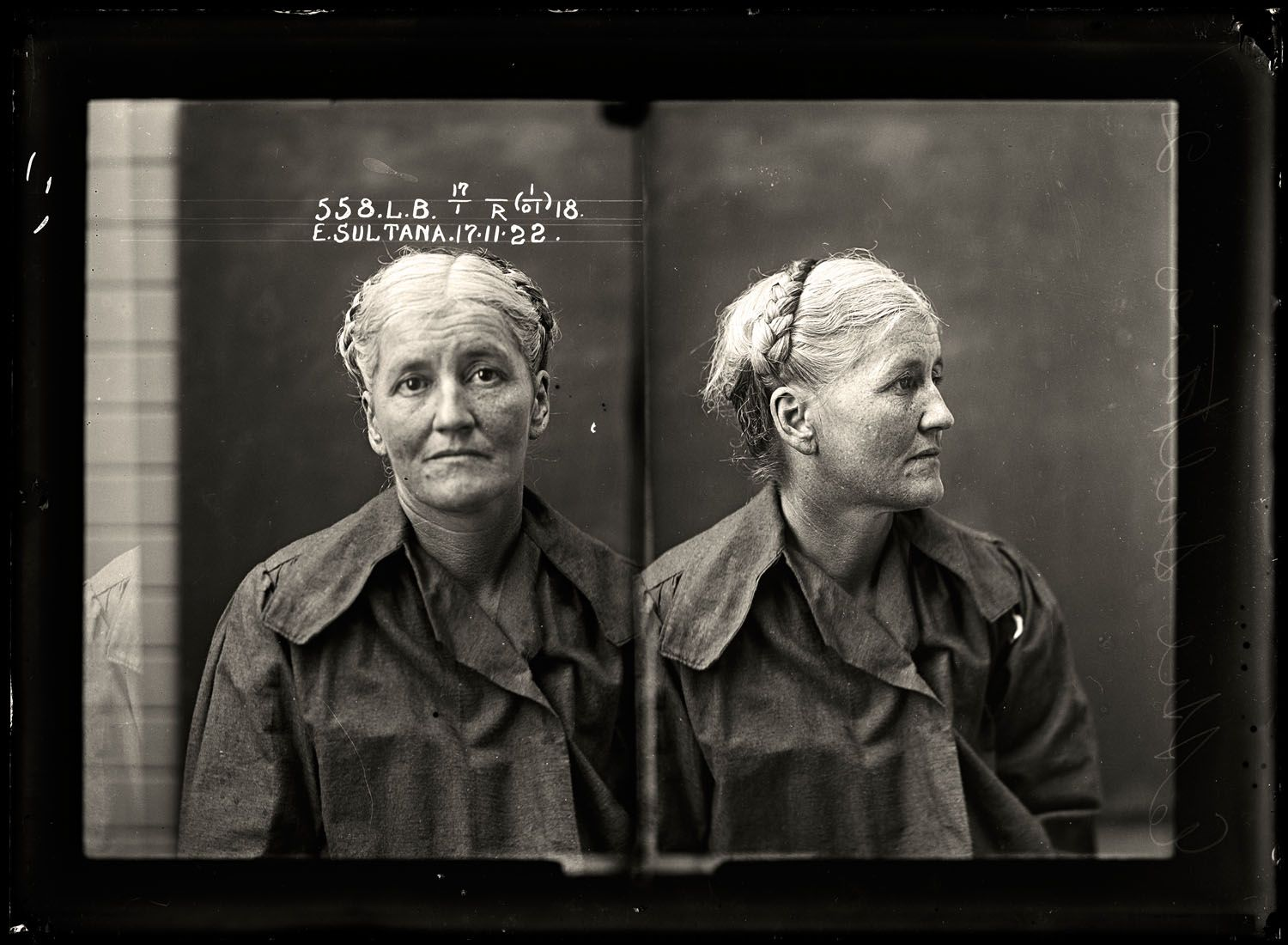 Ettie Sultana, criminal record number 558LB, 17 November 1922. State Reformatory for Women, Long Bay. Prostitute Ettie Sultana worked in northern New South Wales and in the Queensland cities of Brisbane and Toowoomba for most of her career. She had multiple convictions for prostitution, theft, drunkenness, swearing and vagrancy. She was sentenced to six months with hard labour.