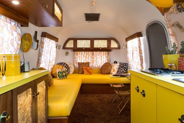 trailers interior airstream Vintage