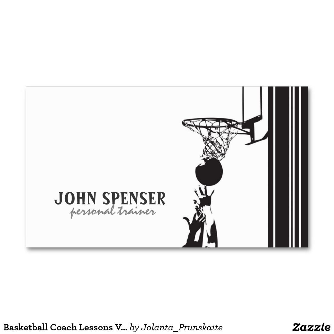 Basketball Coach Lessons Vector Graphic Card Double Sided Standard Business Cards Pack Of 100