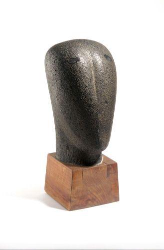 Shinkichi Tajiri (1923 - 2009) Head of Japanese woman, granite