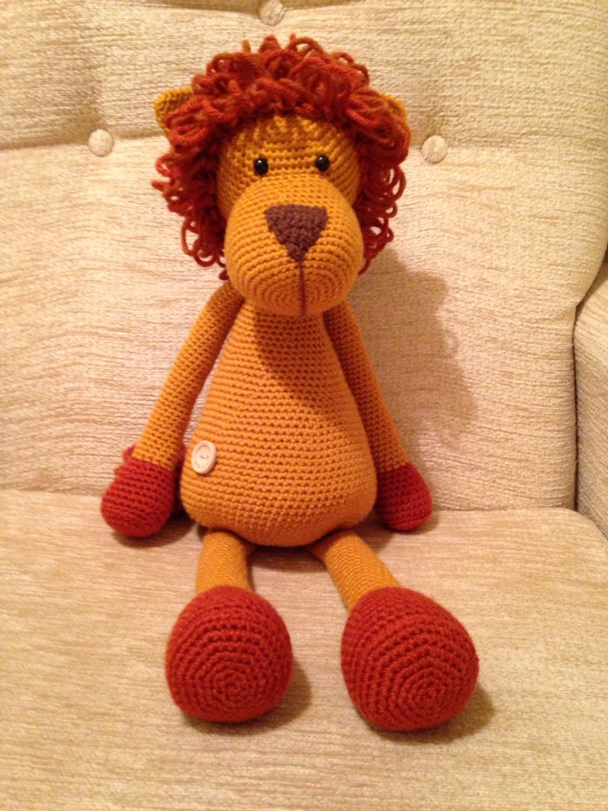 Amigurumi Lion from a Stip and Haak pattern   Crochet doll ...